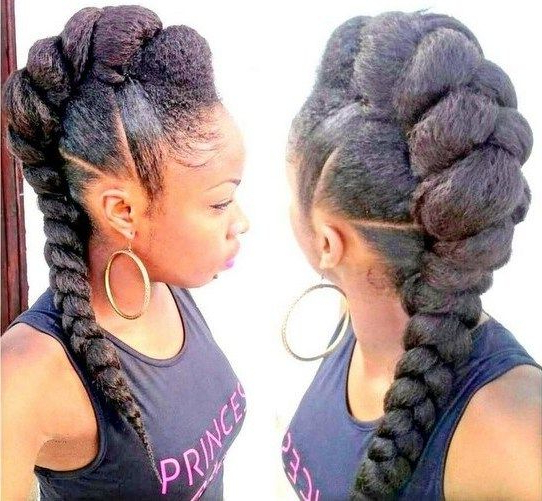 Mohawk Hairstyles For Black Women | Things To Wear | Pinterest Inside Black Braided Faux Hawk Hairstyles (View 2 of 25)