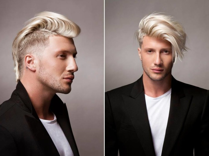 Mohawk, Platinum, Fade Haircut With Shaved Sides | Hairstyles | Hair Throughout Long Platinum Mohawk Hairstyles With Faded Sides (View 23 of 25)