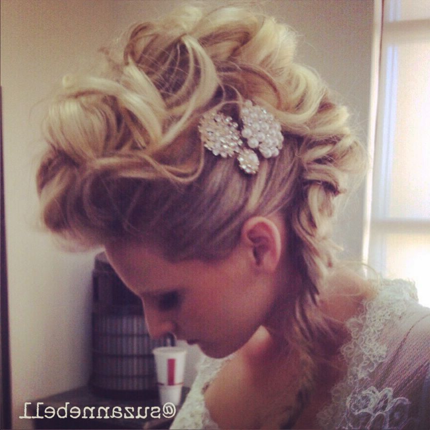 Mohawk Updo/ Wedding/ Prom | Mohawk For The Woman In 2019 | Hair With Regard To Glamorous Mohawk Updo Hairstyles (View 4 of 25)
