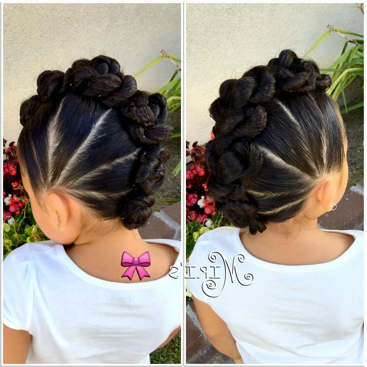 Mohawk With Twists Hair Style For Little Girls | Hair Tips & Hair With Mini Braided Babe Mohawk Hairstyles (View 3 of 25)