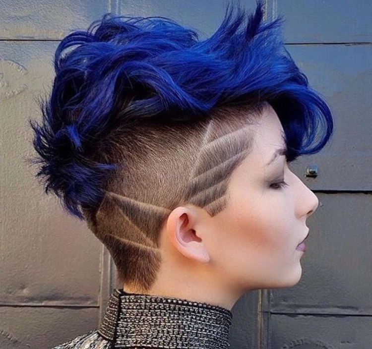 More My Color N I Know I've Said This Before But If U Have This Cut With Regard To Textured Blue Mohawk Hairstyles (View 2 of 25)