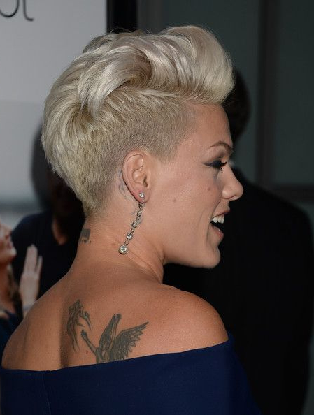 More Pics Of Pink Fauxhawk   Hair   Short Hair Styles, Hair Styles, Hair Within Funky Pink Mohawk Hairstyles (View 16 of 25)