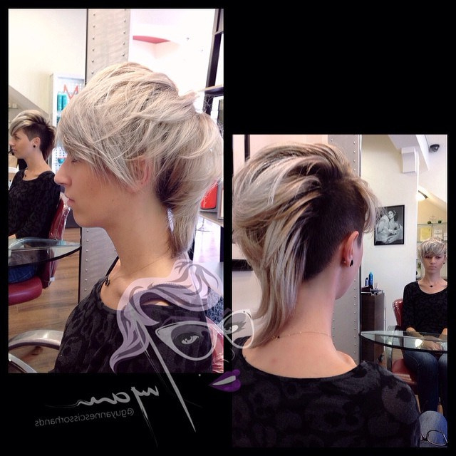 My Girl @teana086 #rockin #dope #haircut #clipper #fade On… | Flickr Throughout Platinum Fauxhawk Haircuts (View 25 of 25)
