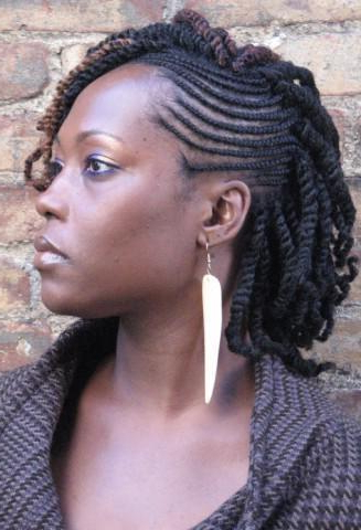 Nubian Twist Hairstyles For Long & Short Hair With Braids 2018 within Braids And Twists Fauxhawk Hairstyles