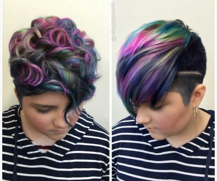 Oil Slick Pixie | Hair | Pinterest | Hair, Hair Styles And Short with Holograph Hawk Hairstyles