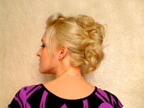 Party Hairstyle For Medium Long Hair Tutorial Easy Everyday Updo For Within Athenian Goddess Faux Hawk Updo Hairstyles (View 13 of 25)