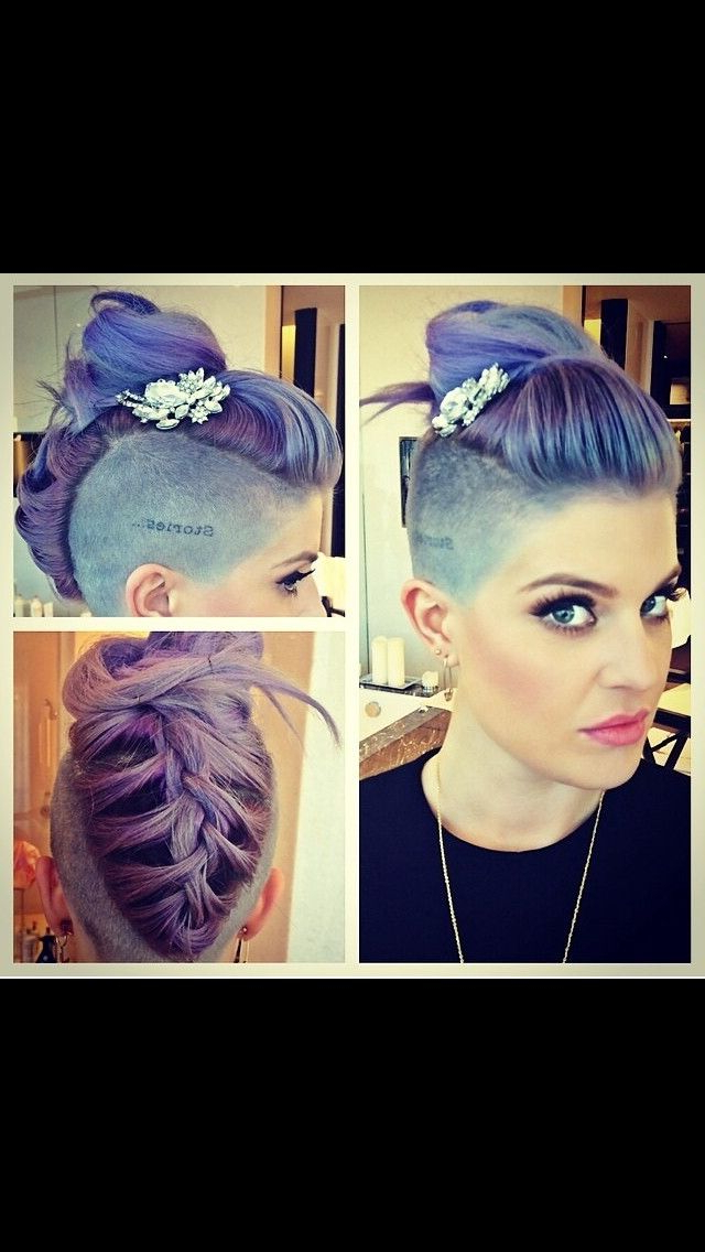 Pastel Purple Mohawk Kelly Osborne | Hairs In 2018 | Pinterest Pertaining To Extravagant Purple Mohawk Hairstyles (View 22 of 25)