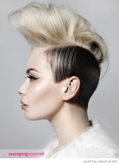 Pictures : Punk Girl Hairstyles – Hip Black And Blonde Mohawk Hairstyle (View 19 of 25)