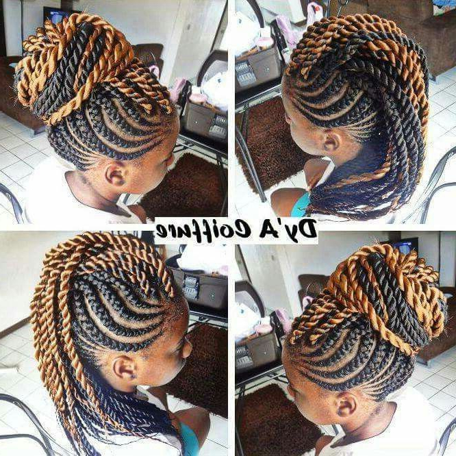 Pincoco Towers On Braids | Pinterest | Hair Styles, Braids And Hair Inside Braided Tower Mohawk Hairstyles (View 8 of 25)
