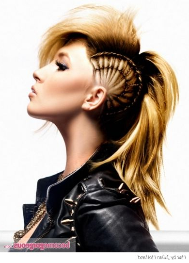 Pinjelly On Hair Styles   Pinterest   Hair Styles, Hair And Throughout Punk Rock Princess Faux Hawk Hairstyles (View 20 of 25)