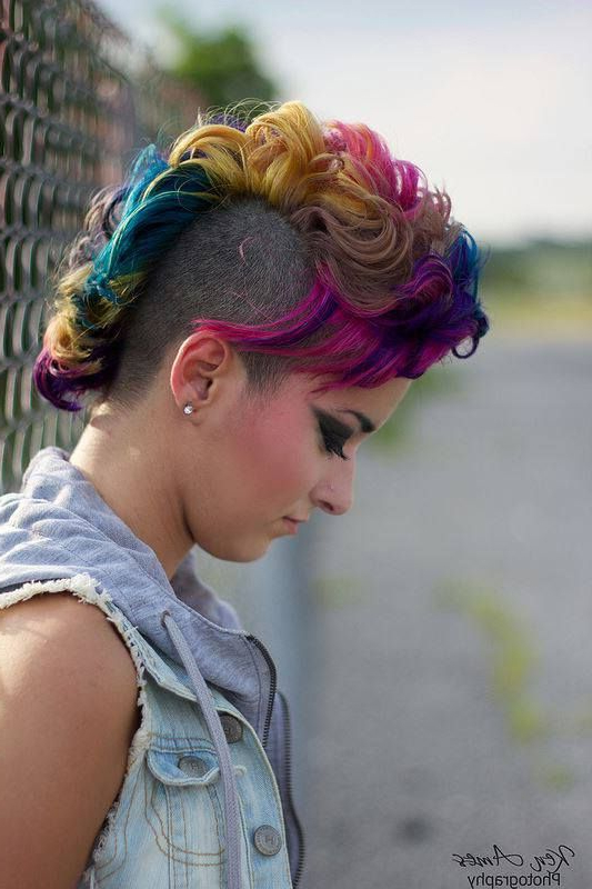 Pink, Purple, Yellow, And Blue Hair | Best Hair Styles, Color And Regarding Purple Rain Lady Mohawk Hairstyles (View 8 of 25)