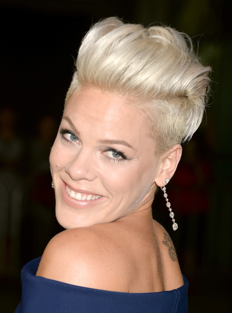 Pink Short Hairstyles – Pink Hair – Stylebistro With Platinum Fauxhawk Haircuts (View 8 of 25)