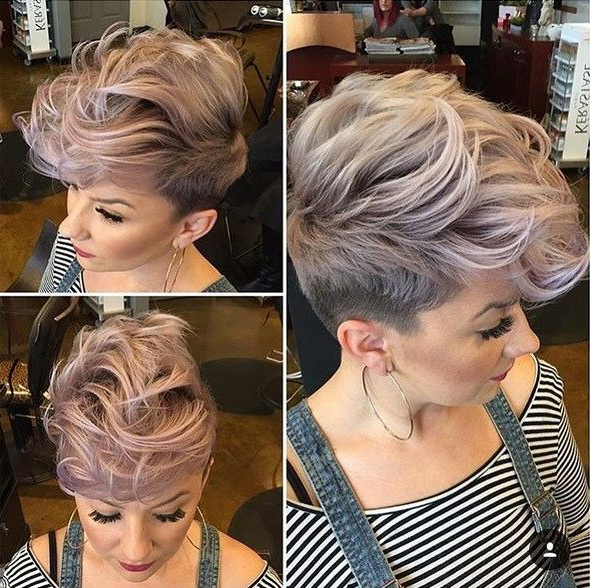 Pinkathleen Bessmer On Pixie Cuts I Love | Short Hair Styles With Pink Pixie Princess Faux Hawk Hairstyles (View 6 of 25)