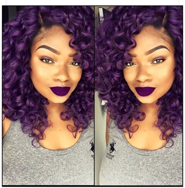 Pinmaurelis On Trenza | Pinterest | Hair Coloring, Curly And In Purple Rain Lady Mohawk Hairstyles (View 23 of 25)
