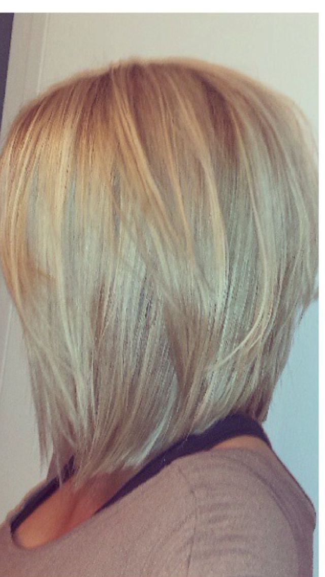Pinstylers Studio On Mid Length Haircuts | Pinterest | Hair For Recent Long Angled Bob Hairstyles With Chopped Layers (View 7 of 25)