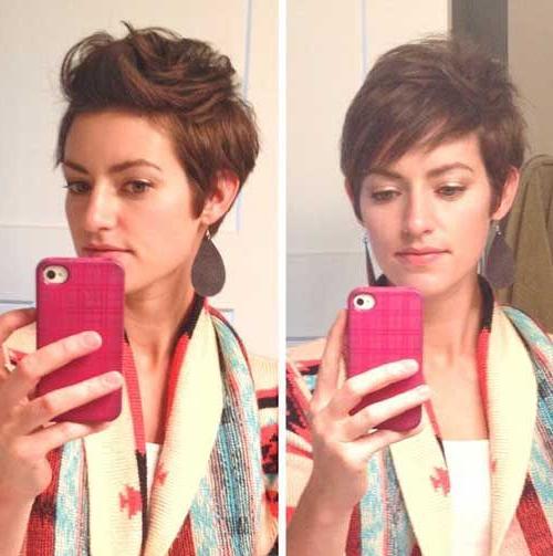 Pixie Schnitt 40 Bestes Pixie Haar #40 #bestes #pixie Haar | Frisur With Asymmetrical Pixie Faux Hawk Hairstyles (View 15 of 25)