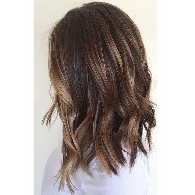 Prettylittleombre: Took Her Blonde Ombré To A Textured Lob And For Latest Caramel Lob Hairstyles With Delicate Layers (View 23 of 25)