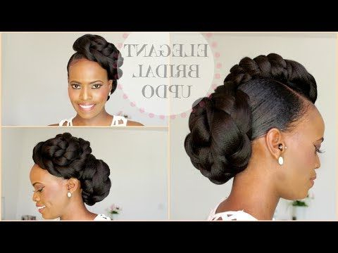 Protective Style* Twisted Faux Hawk Updo – Youtube | Hair Throughout Athenian Goddess Faux Hawk Updo Hairstyles (View 7 of 25)