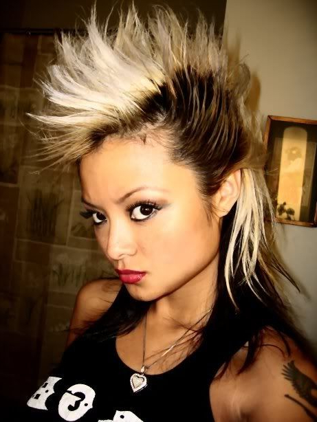 Punk Girls Fashion Asian Hairstyle @marissa Hereso Chang You Could Regarding Purple Rain Lady Mohawk Hairstyles (View 22 of 25)