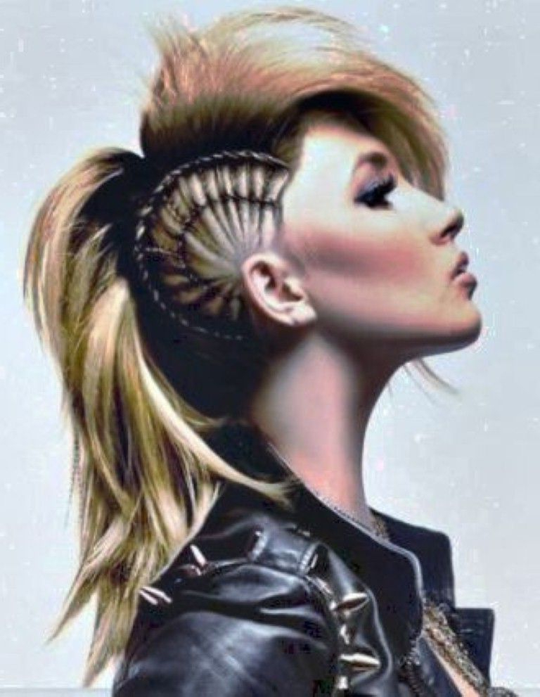 Punk Long Mohawk Hairstyles For Women | Hair (View 18 of 25)