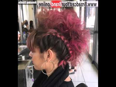 Punk Rock Princess Faux Hawk – Youtube Throughout Punk Rock Princess Faux Hawk Hairstyles (View 2 of 25)