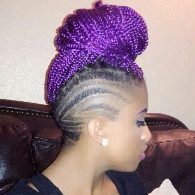 Purple Box Braids | Natural Babies :) | Braids, Hair, Box Braids For Lavender Braided Mohawk Hairstyles (View 4 of 25)