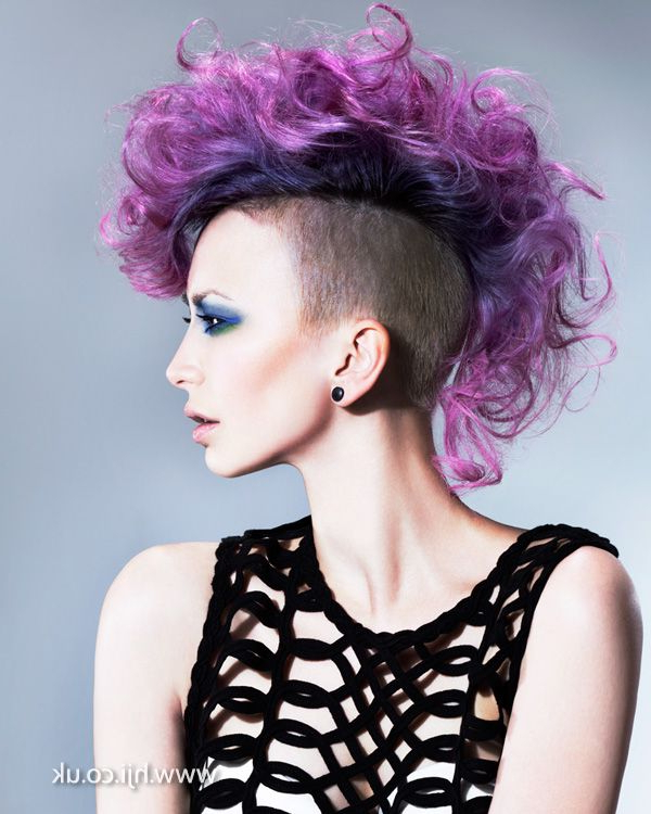Purple Curly Mohawk – Google Search | Hair | Hair Styles, Hair, Hair Pertaining To Hot Pink Fire Mohawk Hairstyles (View 5 of 25)