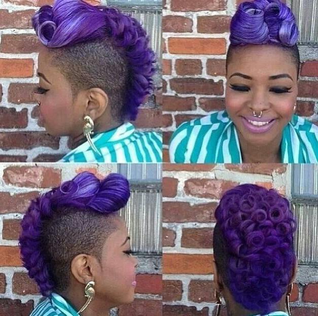 Purple Hair | Hair & Beauty | Pinterest | Hair And Beauty Inside Purple Rain Lady Mohawk Hairstyles (View 25 of 25)