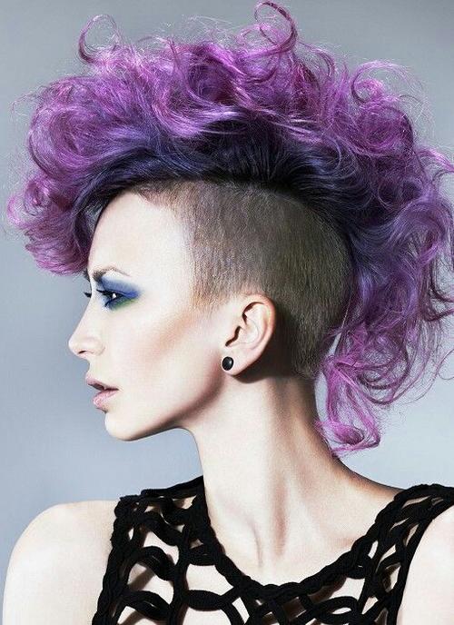Purple Mohawk Hairstyles Uploadedmajida Ali Pertaining To Pink And Purple Mohawk Hairstyles (View 11 of 25)