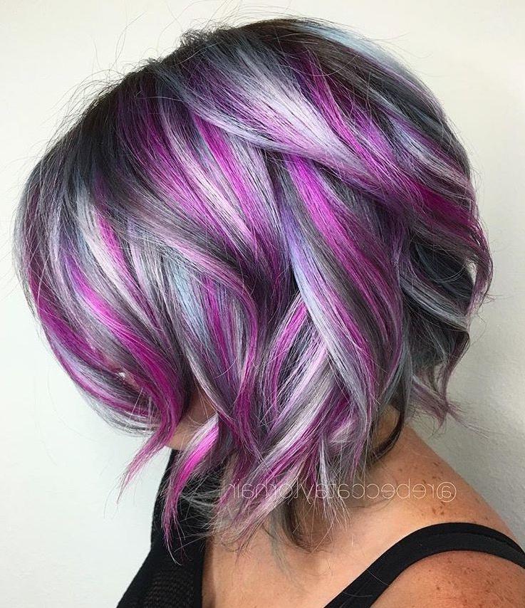 Purple Periwinkle Highlights | Hair | Pinterest | Hair, Hair Styles With Spiky Mohawk Hairstyles With Pink Peekaboo Streaks (View 12 of 25)