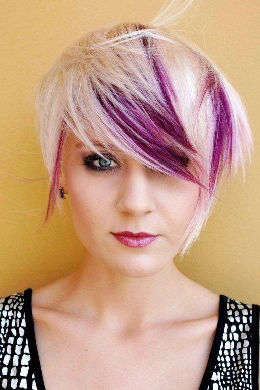 Purple Plum Highlights Dip Dye Pixie Cut; Maybe Something Like This Inside Spiky Mohawk Hairstyles With Pink Peekaboo Streaks (View 18 of 25)
