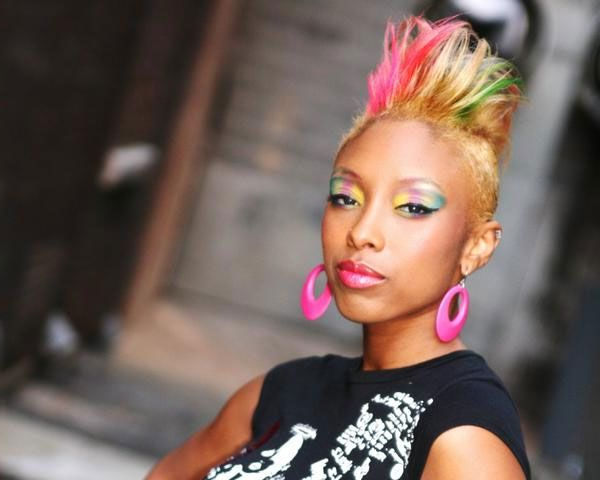 Rainbow 22 Fascinating Mohawk Hairstyles For Black Women | Hairs Of With Regard To Bed Head Honey Mohawk Hairstyles (View 22 of 25)