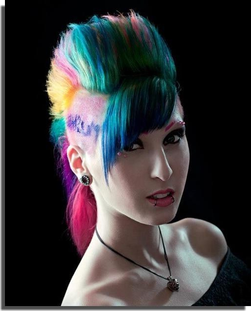 Featured Photo of Rainbow Bright Mohawk Hairstyles