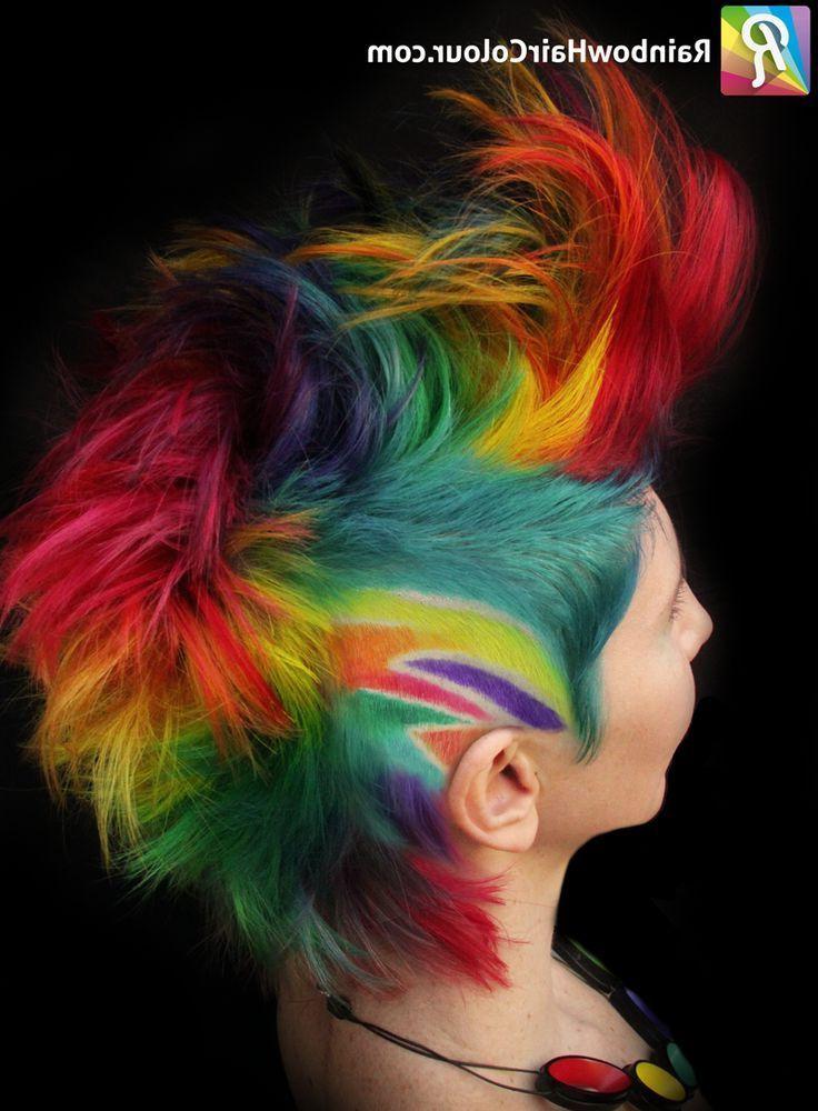 Rainbow Hair Colour | Hot Hair In 2018 | Pinterest | Hair, Hair Pertaining To Rainbow Bright Mohawk Hairstyles (View 11 of 25)