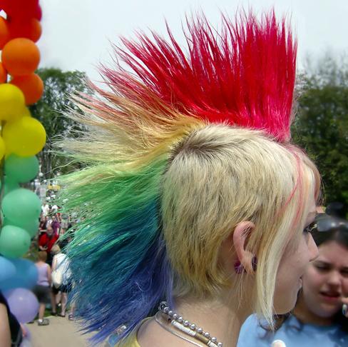 Rainbow Mohawk – Rainbow Pertaining To Rainbow Bright Mohawk Hairstyles (View 14 of 25)