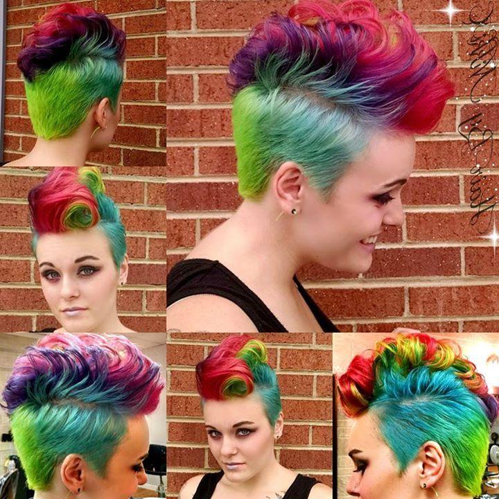Rainbow Mohawknikki Collier | Hair | Pinterest | Hair, Rainbow Intended For Rainbow Bright Mohawk Hairstyles (View 6 of 25)