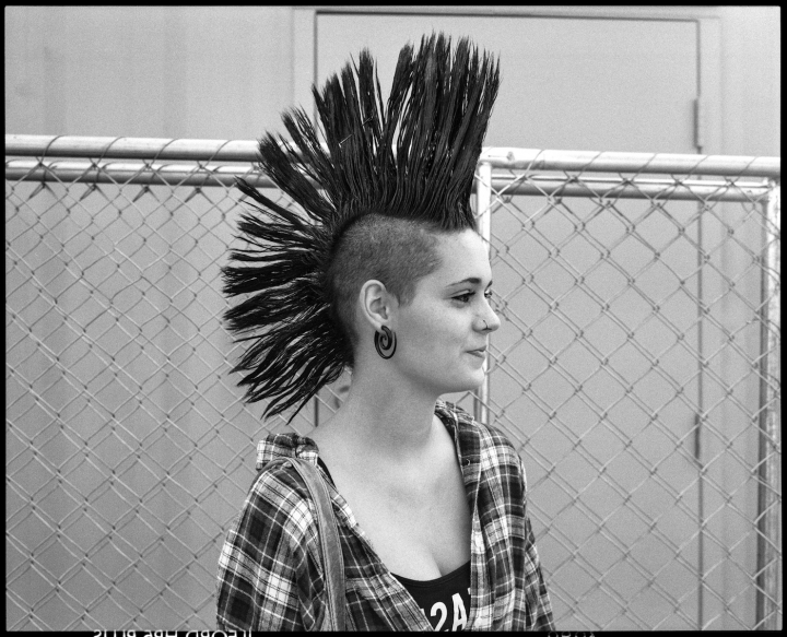 Reverent Photos Of Young Punks And Their Irrepressible Mohawks Pertaining To Silvery White Mohawk Hairstyles (View 12 of 25)