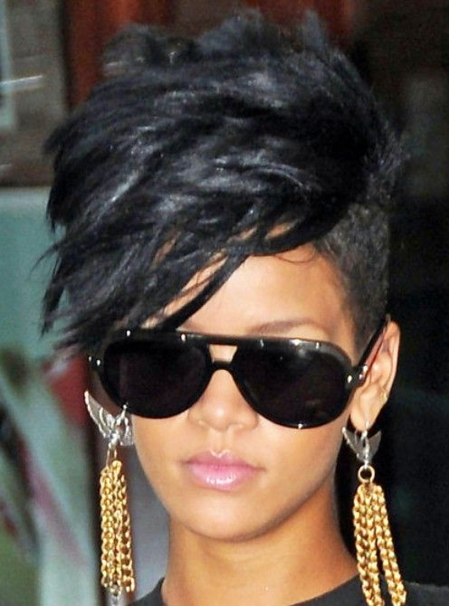 Rihanna Black Fauxhawk Hairstyle | My Style | Pinterest | Hair For Tattoo You Tonight Faux Hawk Hairstyles (View 25 of 25)