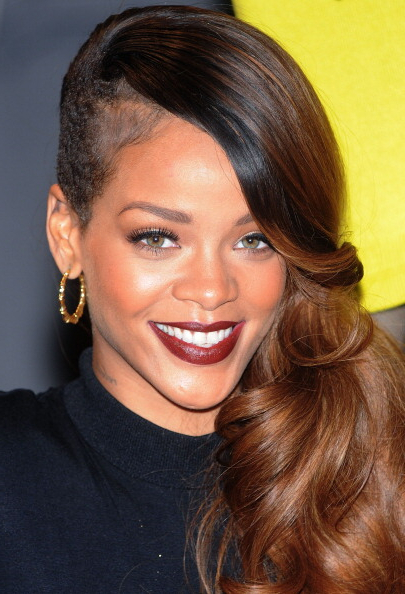 Rihanna Hairstyles: Her Most Eccentric Styles – Best Popular Hairstyles Inside Retro Curls Mohawk Hairstyles (View 6 of 25)