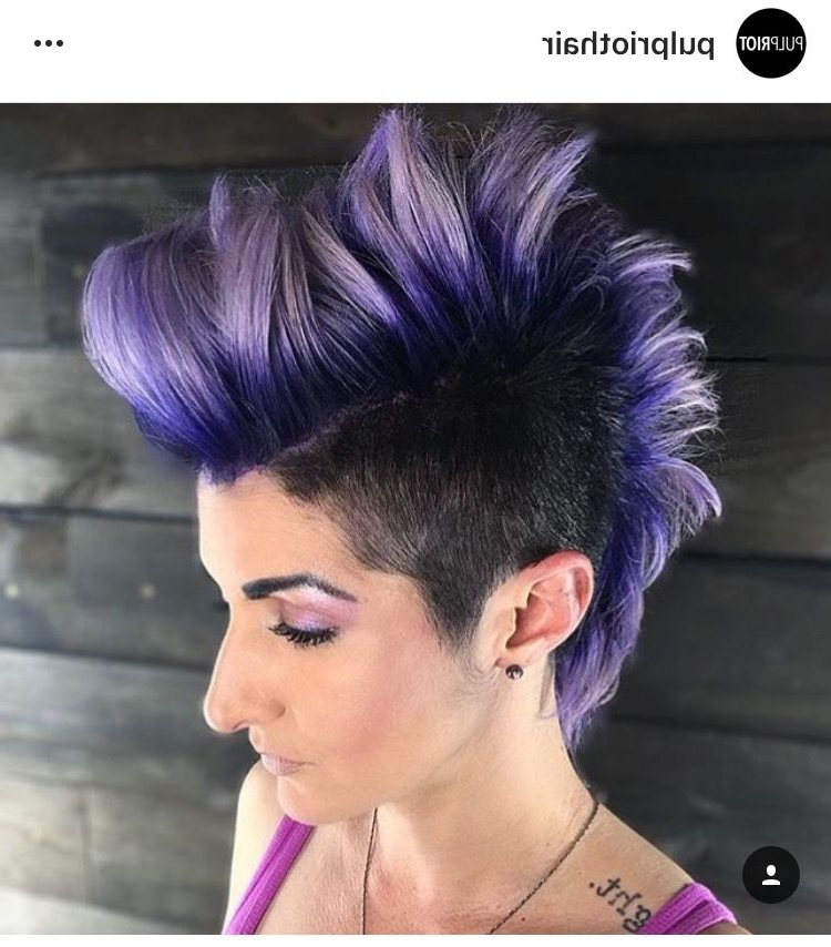 Rock That Hawk! #hairstyles | Hairs | Pinterest | Faux Mohawk, Crazy Regarding Holograph Hawk Hairstyles (View 9 of 25)