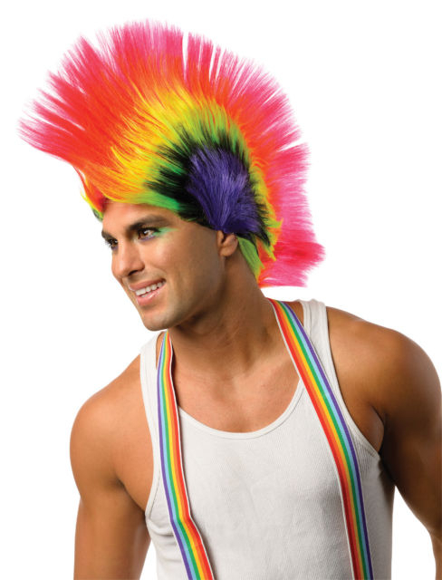 Rubies Costume 52893R Rave Punk Rainbow Mohawk Wig For Women | Ebay Intended For Rainbow Bright Mohawk Hairstyles (View 24 of 25)