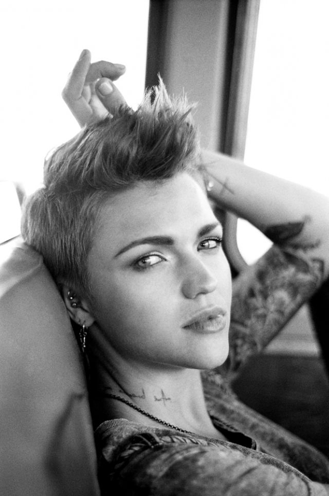 Ruby Rose X | Hair | Ruby Rose, Rose, Hair Styles Throughout Tattoo You Tonight Faux Hawk Hairstyles (View 17 of 25)