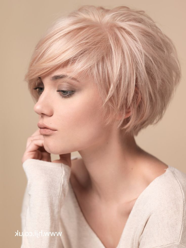 Short Cropped Hairstyles For F   <Br/> Blonde   Cuts   Pinterest Within Latest Layered Haircuts With Cropped Locks On The Crown (View 19 of 25)