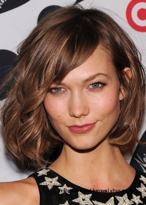 Short Curly Layered Bob Hairstyles Wavy Tousled Bob Chin Length Side With Most Popular Layered Tousled Bob Hairstyles (View 22 of 25)