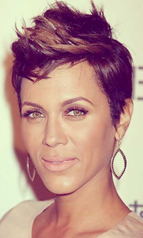 Short Haircut Styles : Short Haircuts Black Hair Faux Hawk For Black Braided Faux Hawk Hairstyles (View 15 of 25)