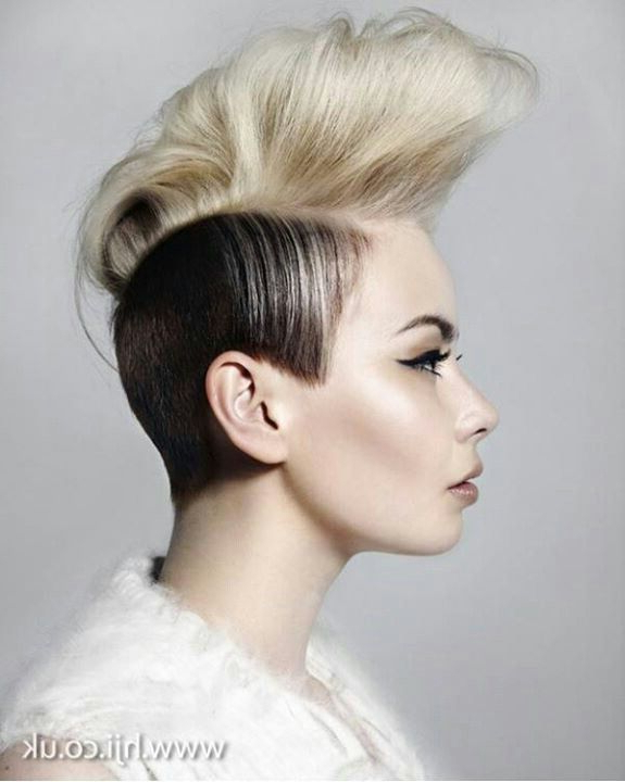 Short Hairstyle | Womens Short Hairstyles | Pinterest | Hair, Hair For Mohawk Hairstyles With Vibrant Hues (View 13 of 25)