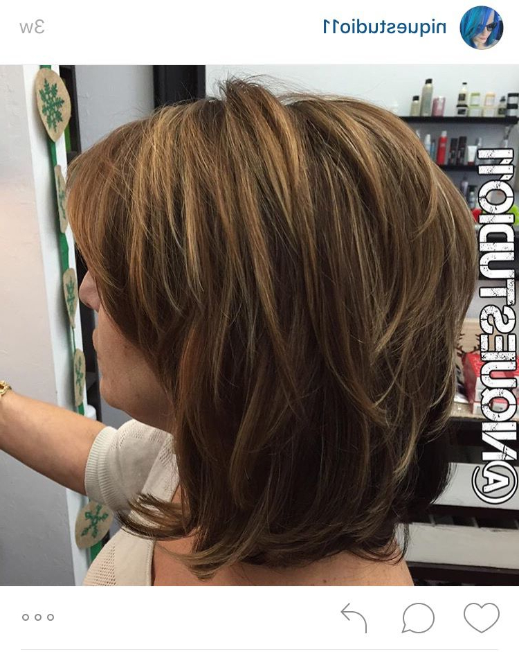 Short Layered Medium Length Haircut (View 11 of 25)