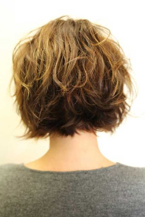 Short Layered Wavy Hair Back View | Hair Styles | Hair Styles, Hair Regarding Recent Curly Layered Bob Hairstyles (View 15 of 25)
