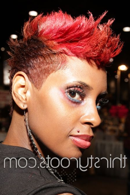 Short Relaxed Red Mohawk | My Beautiful Natural And Relaxed Hair Inside Purple Rain Lady Mohawk Hairstyles (View 21 of 25)