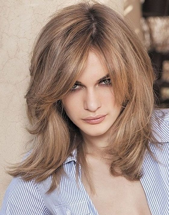 Shoulder Length Layered Hairstyles | Womens Hairstyles | Pinterest Regarding Best And Newest Layered And Flipped Hairstyles For Medium Length Hair (View 14 of 25)